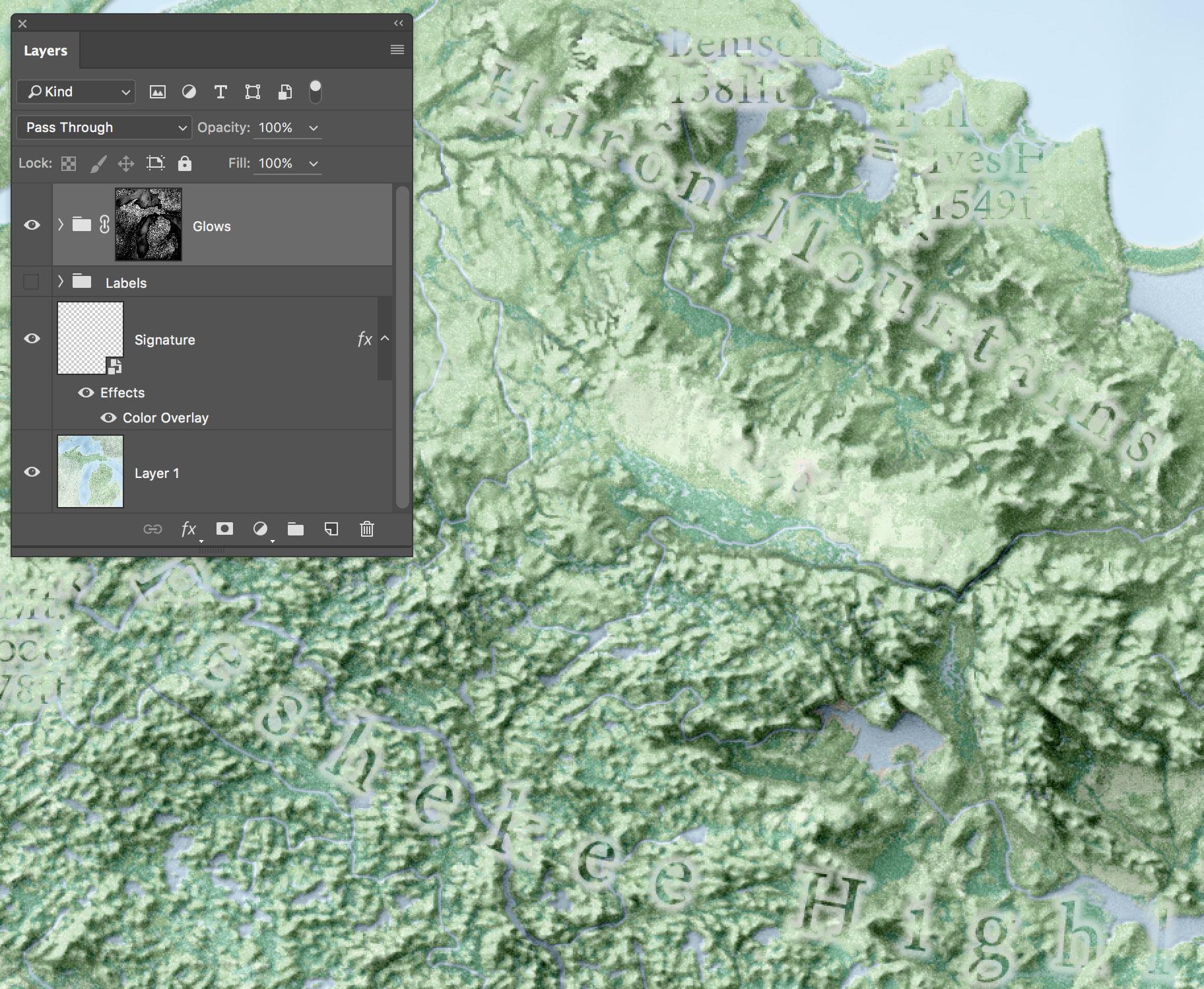 Terrain in Photoshop: Layer by Layer   somethingaboutmaps